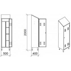 Boîtes rectangulaires avec 2 anses inox